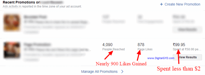Facebook ads case study cheap likes