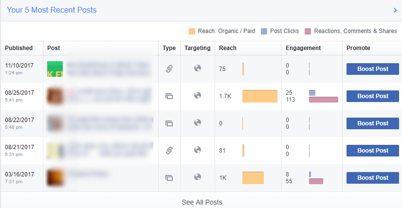 Facebook page post performance analysis report of your celebrity marketing campaigns