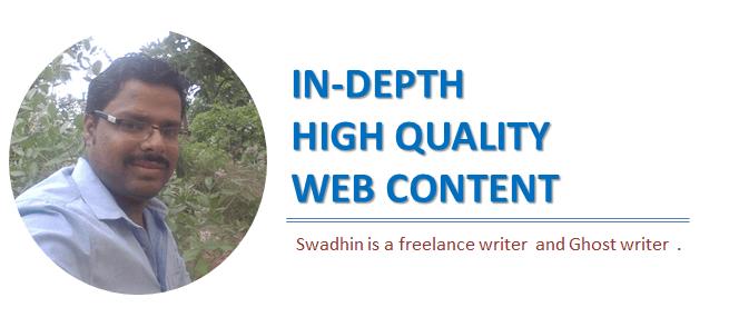 Hire Swadhin agrawal as a freelance writer