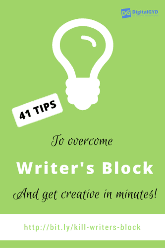 tips to overcome writers block. Cure writers block and get your creative juices flowing again.