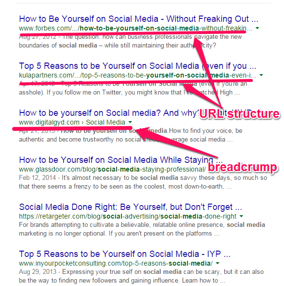 use of breadcrump in seo