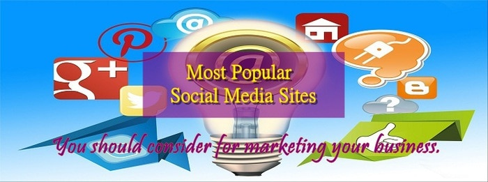 list of most popular free social media sites
