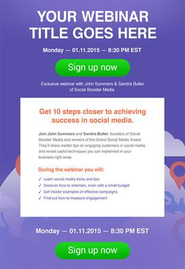collect webinar leads with getresponse marketing automation tool