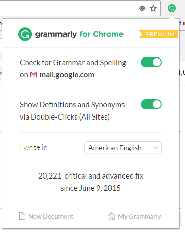 Grammarly browser extension tutorial