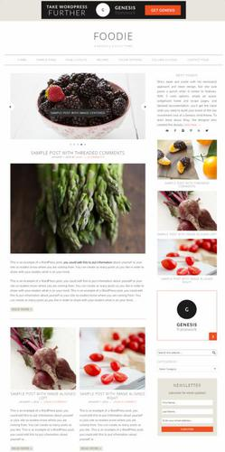 Foodie pro: best minimal adsense friendly AdSense ready food blog theme