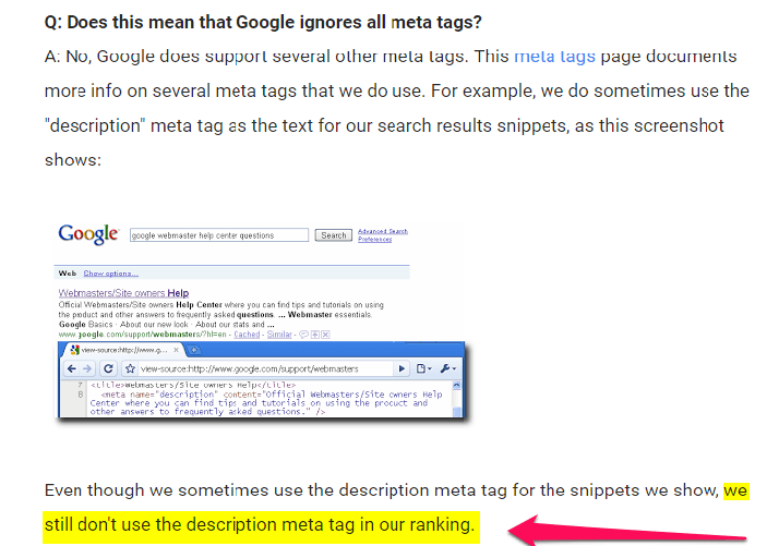 Google doesn't consider meta description as a ranking factor