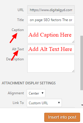 Add alt tags, title tags and captions to images