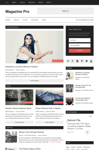 magazine pro adsense optimized genesis child theme theme by studiopress