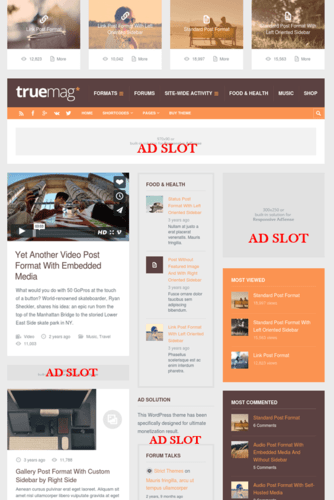 Truemag adsense-optimized fast loading news and magazine blog theme for WordPress