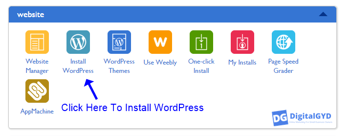 Install WordPress from Bluehost cpanel