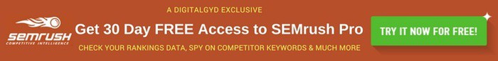 SEMrush Pro Discount Coupon: Get 30 day Free Trial