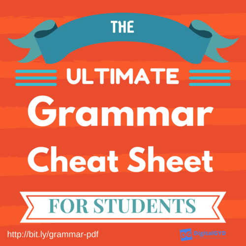 picture regarding Grammar Cheat Sheets Printable titled Grammar Cheat Sheet: The Pocket Expert Toward Greater English
