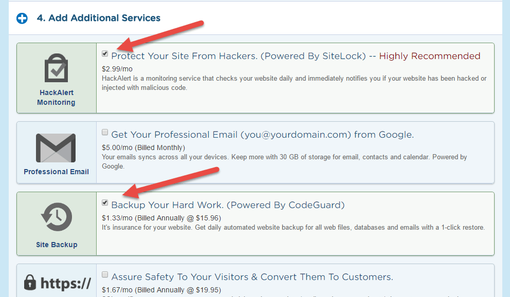 uncheck additional pauidservices when pourchasing Hostgator 1 cent hosting