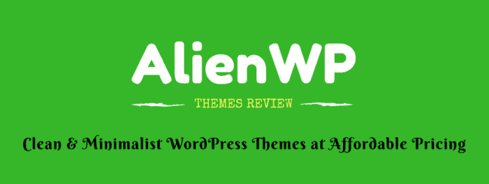 AlienWP Theme Review: Clean, Minimalist & Simple WordPress themes