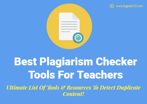 Best Plagiarism Checker Tools Free Online