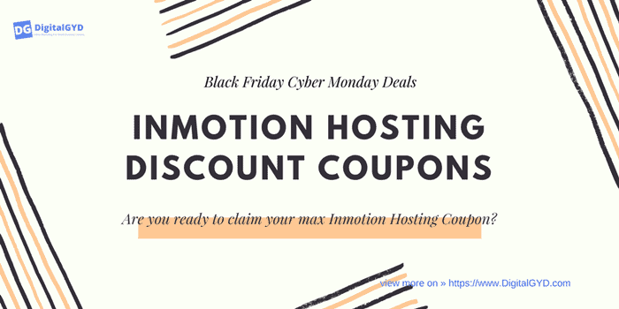 InMotion hosting Black Friday Cyber Monday discount coupons and deals 2020