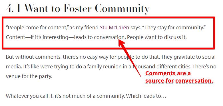 Michael Hyatt comment community