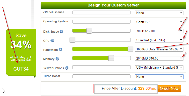 A2 hosting VPS servers