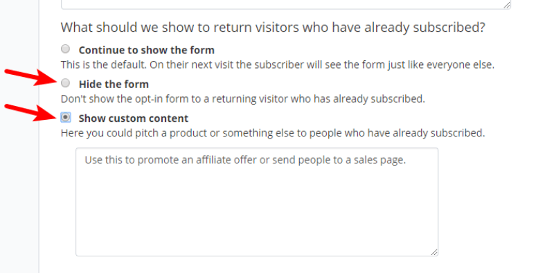 How to hide pop ups or show different optin forms to already subscribed users in Convertkit