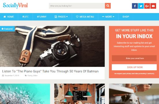 Socialy Viral Theme best WordPress news and magazine blog theme