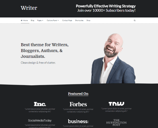 Writer Theme-Best WordPress Theme For Writers