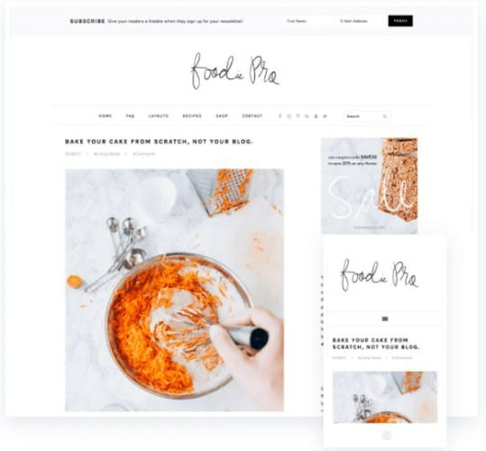 Foodie Pro: Best WordPress food blog theme for for bloggers