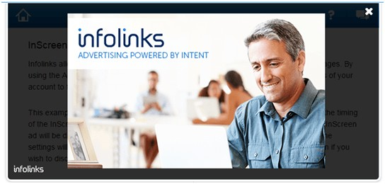 Infolinks in screen ads