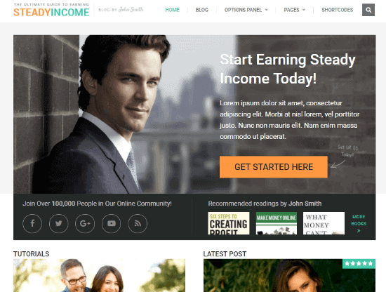 Steady Income Personal Branding Theme