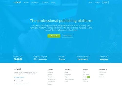Ghost Best WordPress Competitor Blogging Platform