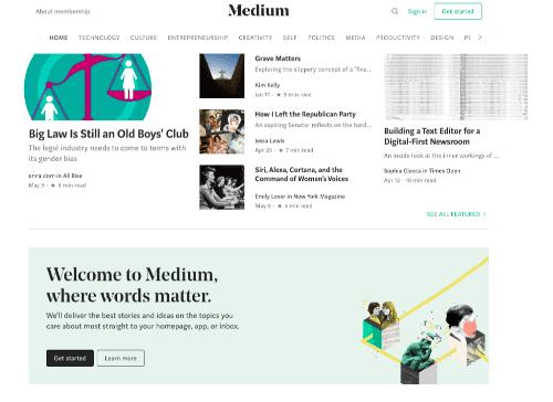 Medium #1 WordPress Alternative