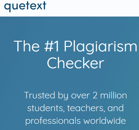 Quetext homepage