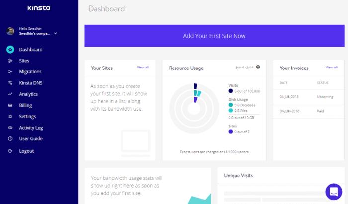 create new site