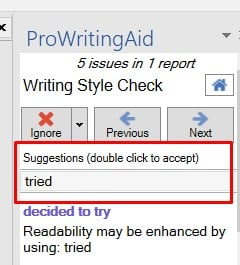 How to use ProWritingAid MS Word addin