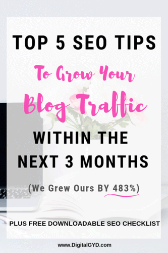SEO For Beginners! Here are 5 actionable SEO Tips to improve your rankings and get more traffic from Google. Download the exact SEO Checklist we use optimize our website for search engine optimization.    #SearchEngineOptimization #SEOTips #SEOTricks #BloggingTips