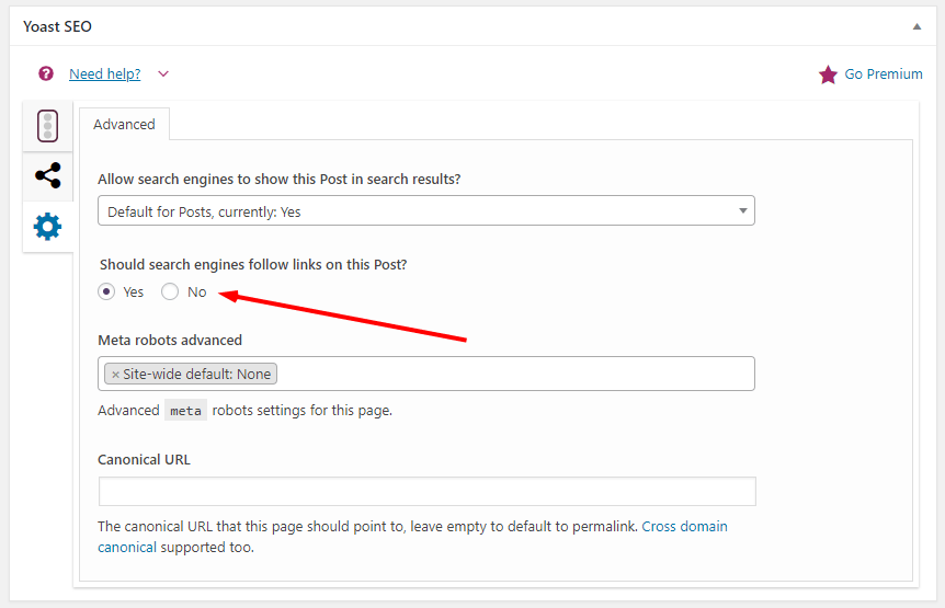 How to No-Index Posts using Yoast SEO to prevent searcch engine crawlers