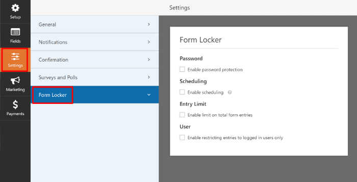 WPForms Review 2019: Form locker feature to restrict access to forms