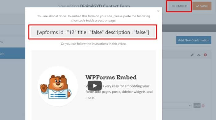 WPForms Review 2019: Using wpforms shortcode to embed forms anywhere on your website