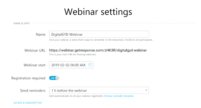 GetResponse webinar functionality review