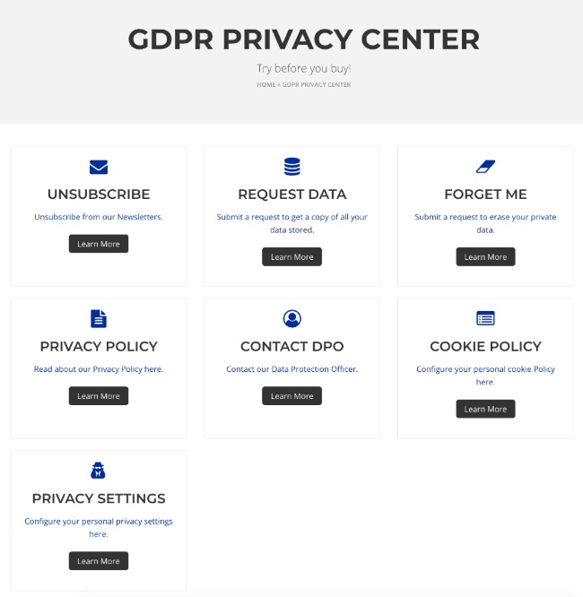 WordPress GDPR by welaunch WordPress Plugin
