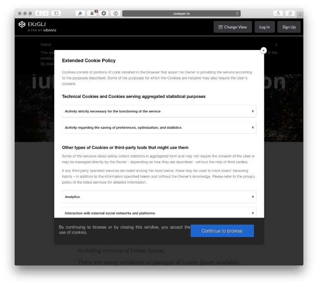 iubenda Cookie Solution for GDPR WordPress Plugin