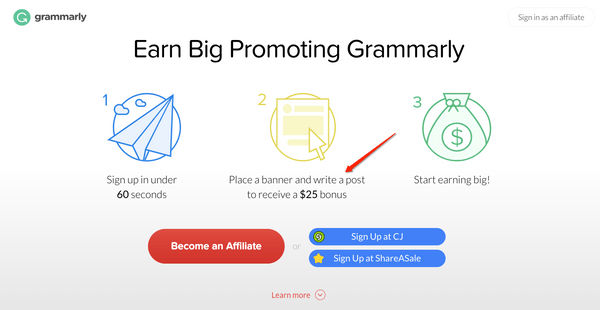 join Grammarly affiliate and make money