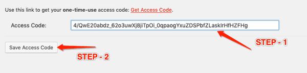 save analytics access code