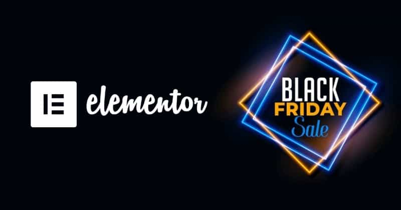 Elementor Black Friday Deal Discount Coupon 2020