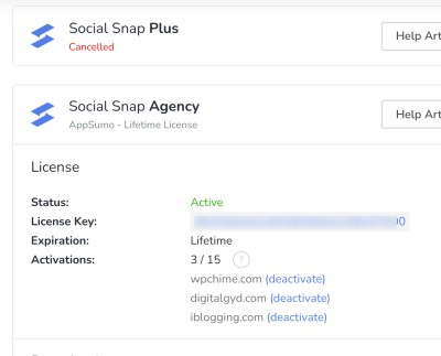 Social Snap review - purchase proof