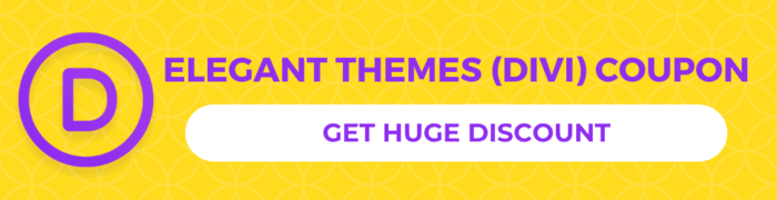 Elegant themes Divi discount coupon
