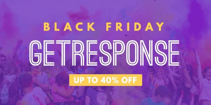 GetResponse Black Friday Cyber Monday Deal Discount 2020