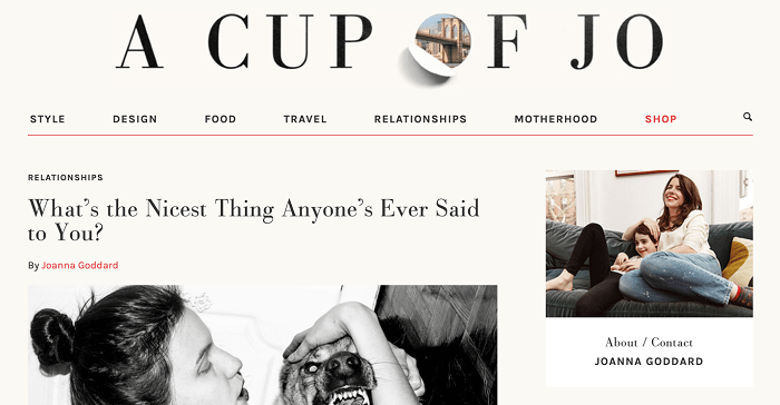 A Cup of Jo - Top blogs for women