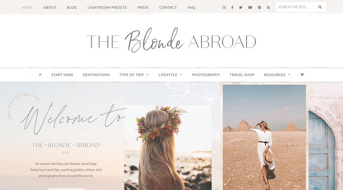 The Blonde Abroad- blogs for women