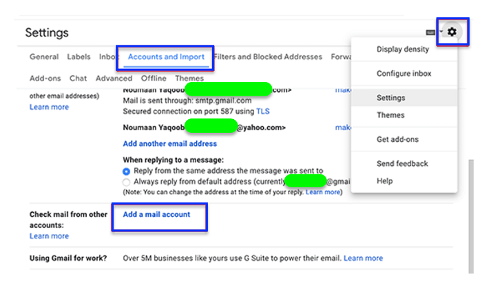add a mail account in bluehost