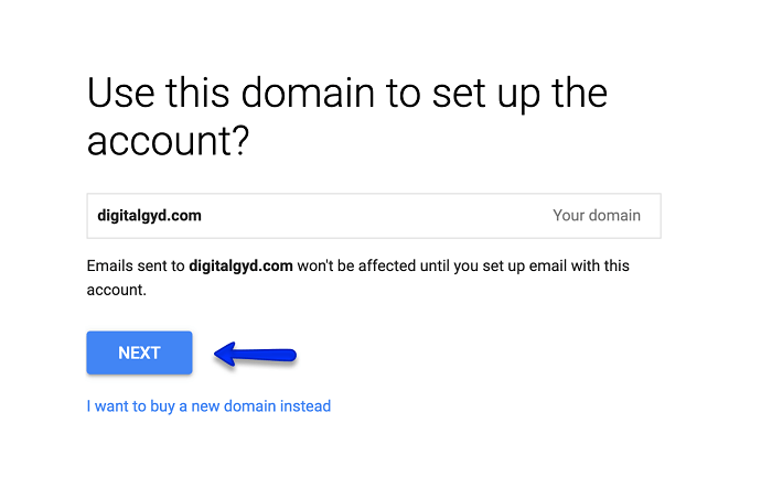 add domain to G Suite